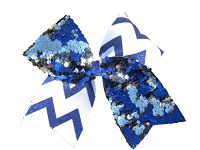Custom Reversible Sequin and Chevron Cheer Bow