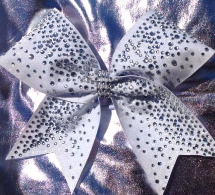 Supreme Rhinestone Glitter Cheer Bow