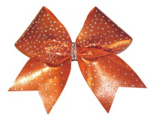Scattered Rhinestone Cheer Bow