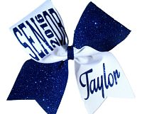 Senior 2016 or 2017 Glitter Custom Personalized Cheer Bow