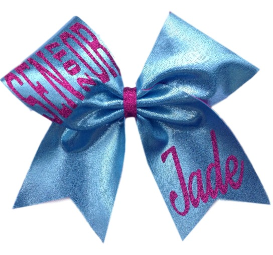 Senior Mystique Glitter Cheer Bow