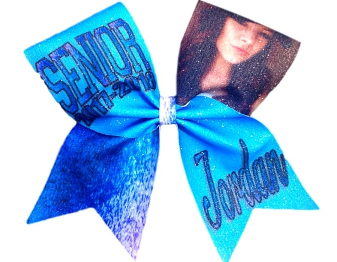 Senior Custom Picture Cheer Bow