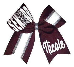 Custom Two Colored Senior Cheer Bow