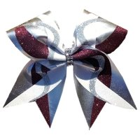 Custom Glitter Swirl Cheer Bow