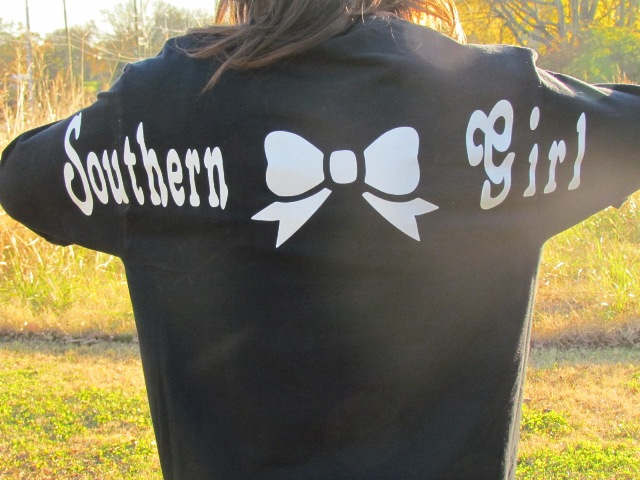 fb838ce77ba6 Southern Girl Long Sleeved Monogrammed Shirt. This ...