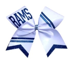 Team Metallic Personalized Custom Cheer Bow