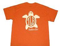 Custom Turtle Monogrammed Glitter Shirt