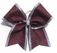 Two Colored Glitter Cheer Bow