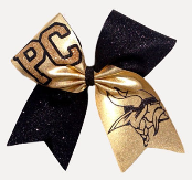 Vikings Mascot Glitter Cheer Bow