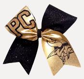 Vikings Mascot Glitter Cheer Bow