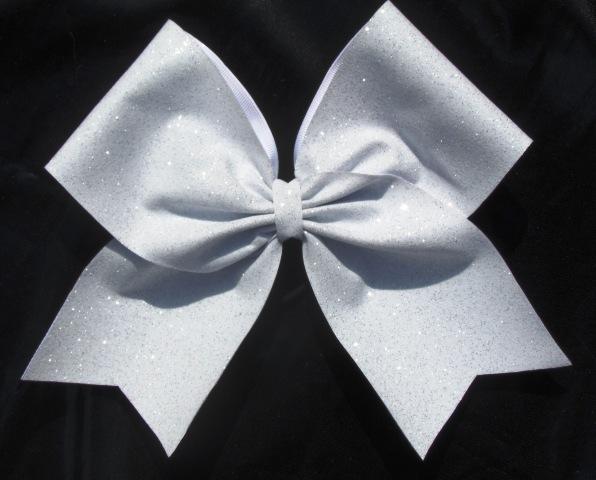 Whitr Glitter Bow