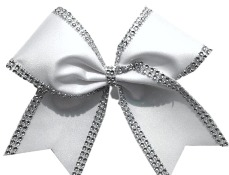 Jeweled Lined Solid Mystique Cheer Bow
